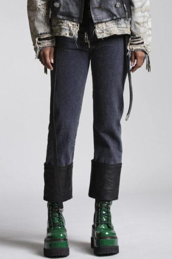 R13 Axl Slim Jeans W Leather Cuff 3