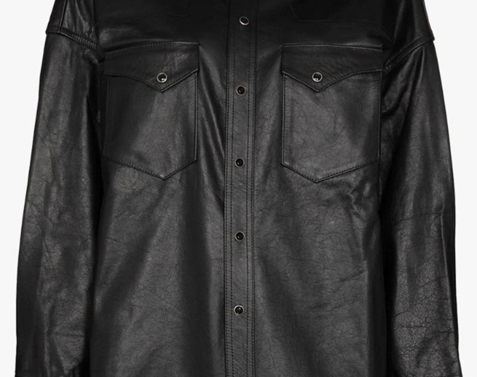 R13 Oversized Cowboy Leather Shirt 1