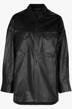 R13 Oversized Cowboy Leather Shirt 1
