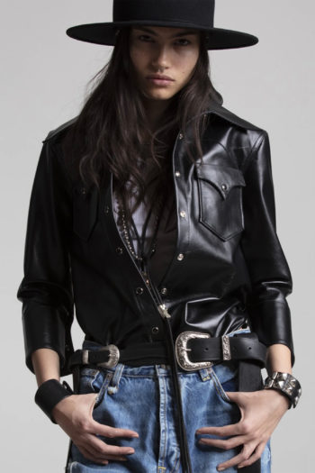 R13 Oversized Cowboy Leather Shirt 3