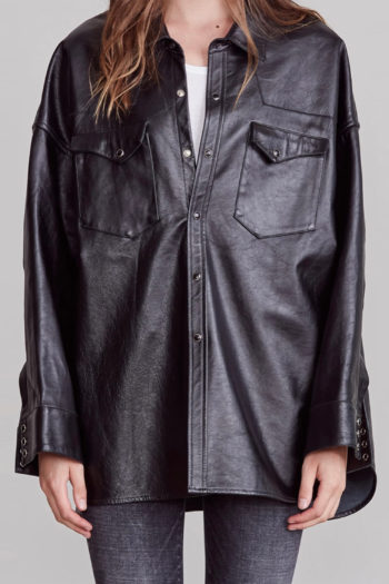 R13 Oversized Cowboy Leather Shirt 4