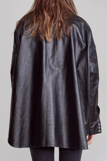 R13 Oversized Cowboy Leather Shirt 5