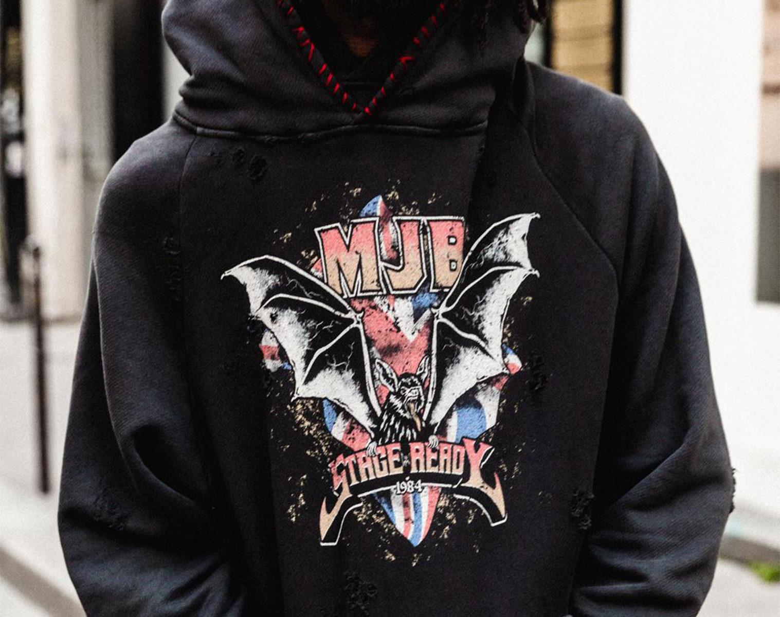 MJB Double Hoodie Vintage Bat 1
