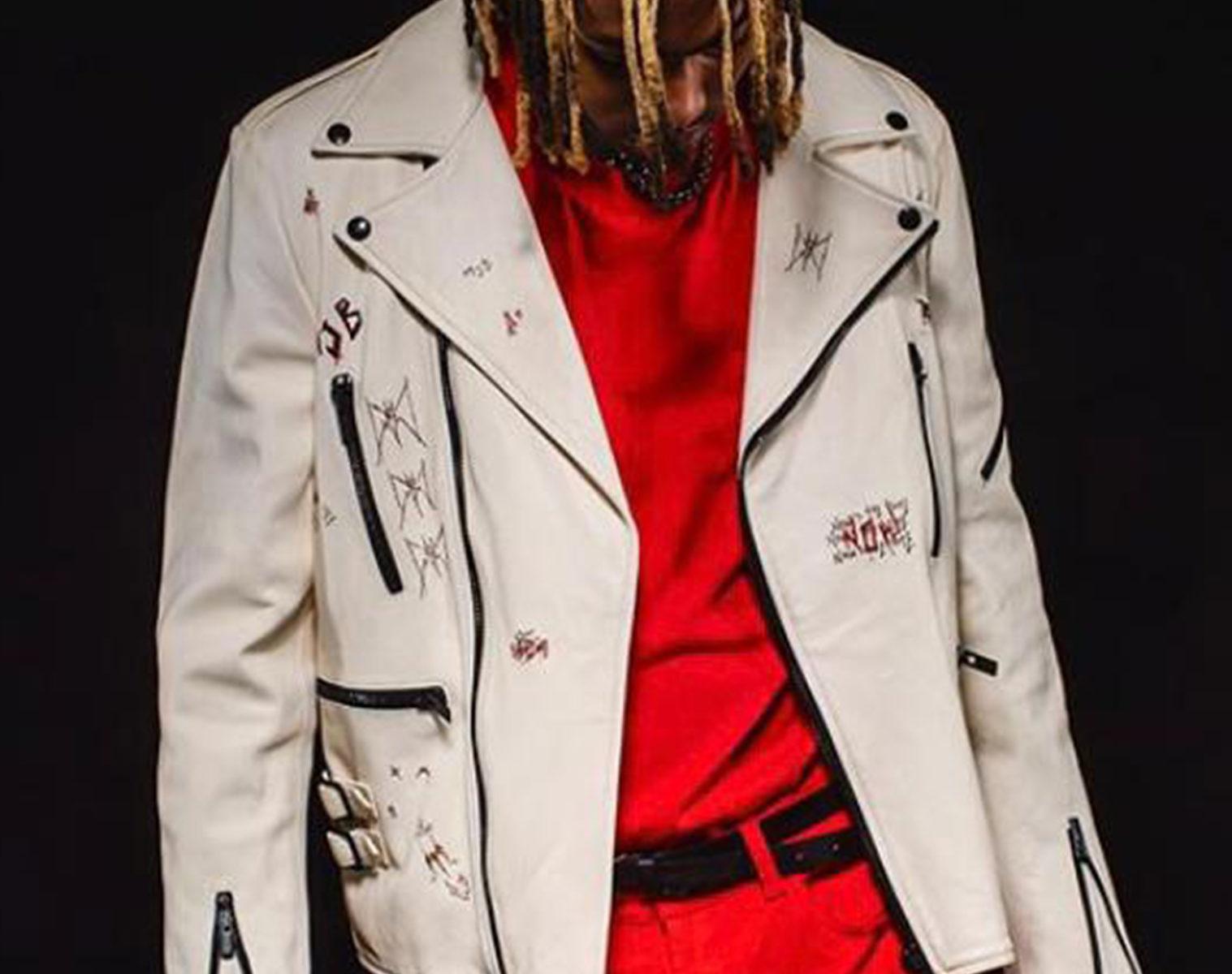 MJB Handpainted Classic Biker Leather Jacket 1