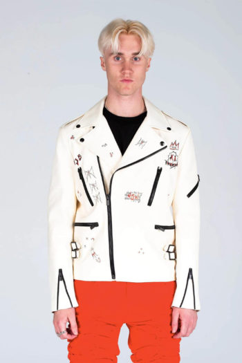 MJB Handpainted Classic Biker Leather Jacket 4