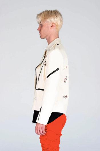 MJB Handpainted Classic Biker Leather Jacket 6