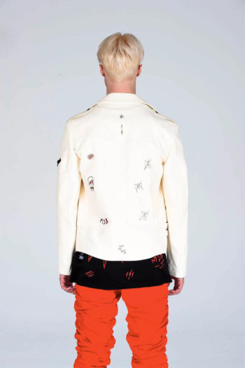 MJB Handpainted Classic Biker Leather Jacket 7