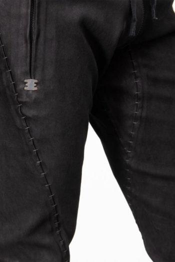 ISAAC SELLAM Slim Leather Pants w Drawstring 2