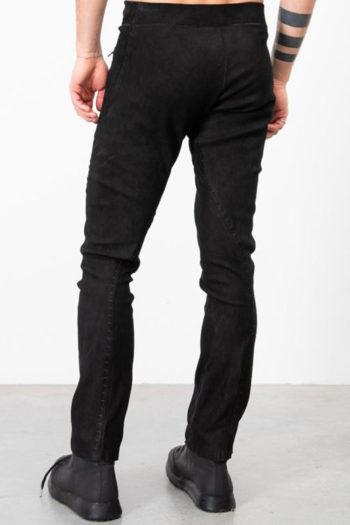 ISAAC SELLAM Slim Leather Pants w Drawstring 5