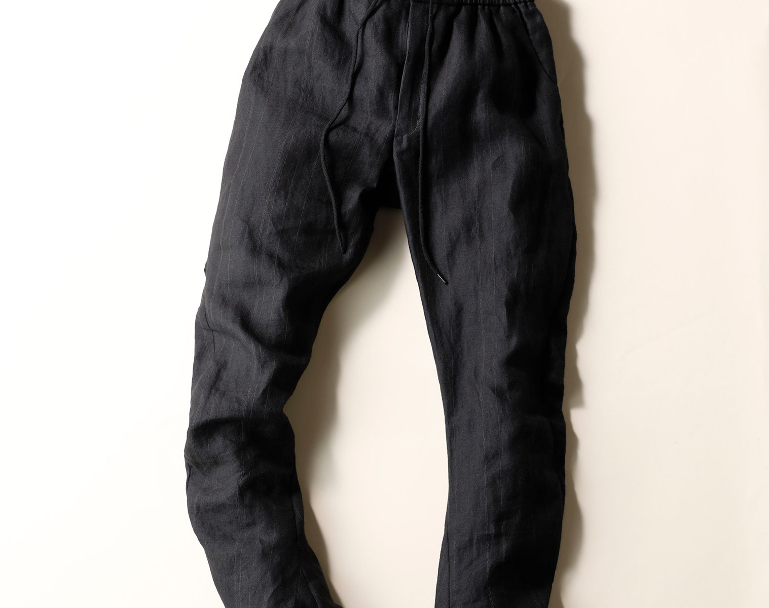 DEVOA Drawstring Waist Slim Pants 1