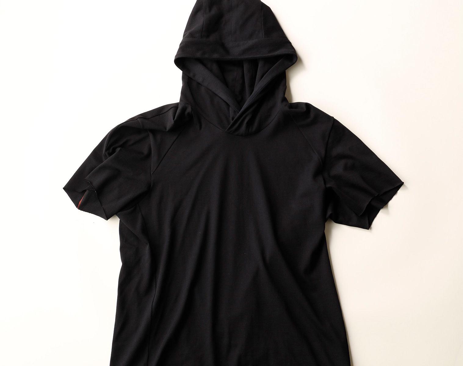 DEVOA Short Sleeve Hooded Sweater 1