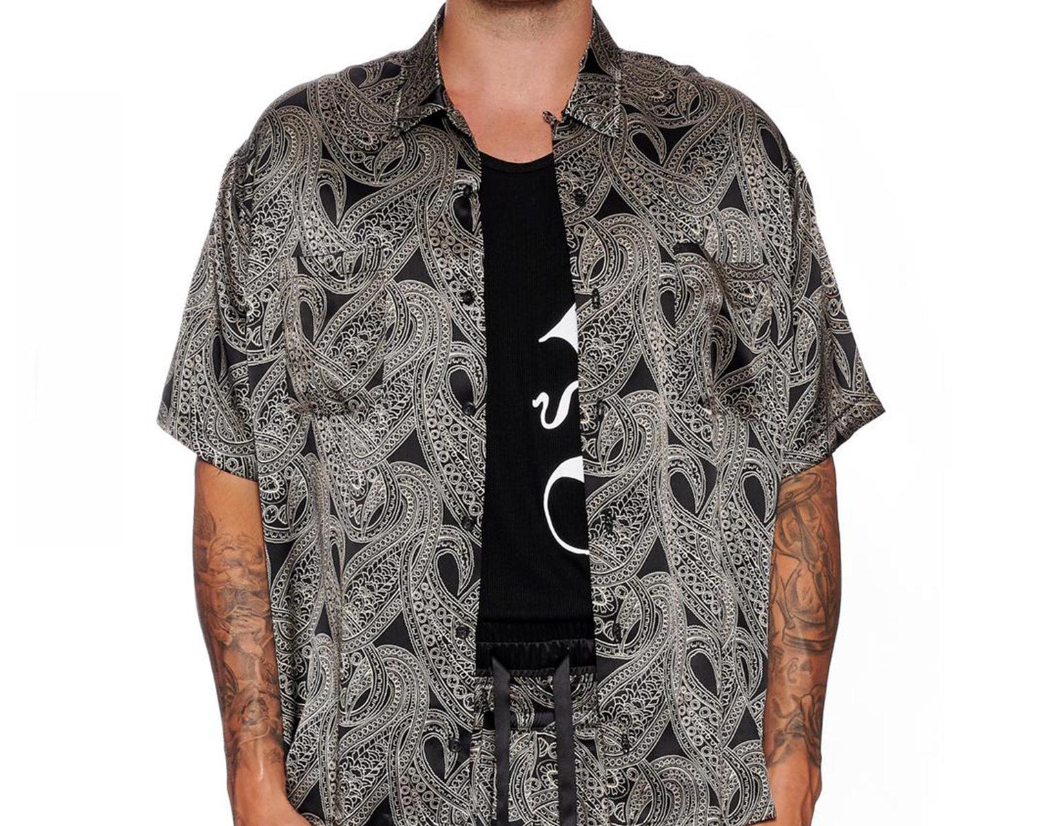 NAHMIAS Silk Paisley Shirt 1