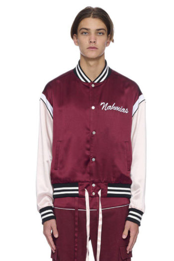 NAHMIAS Silk Varsity Jacket 1