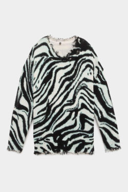 R13 Blue Zebra Oversized Sweater 1