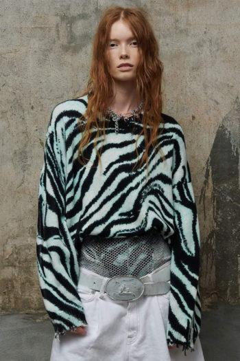 R13 Blue Zebra Oversized Sweater 2