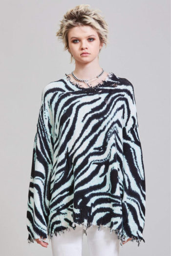R13 Blue Zebra Oversized Sweater 3