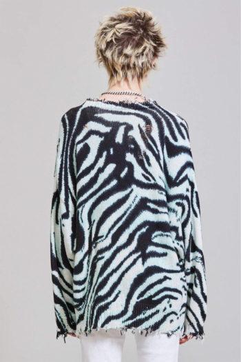 R13 Blue Zebra Oversized Sweater 4