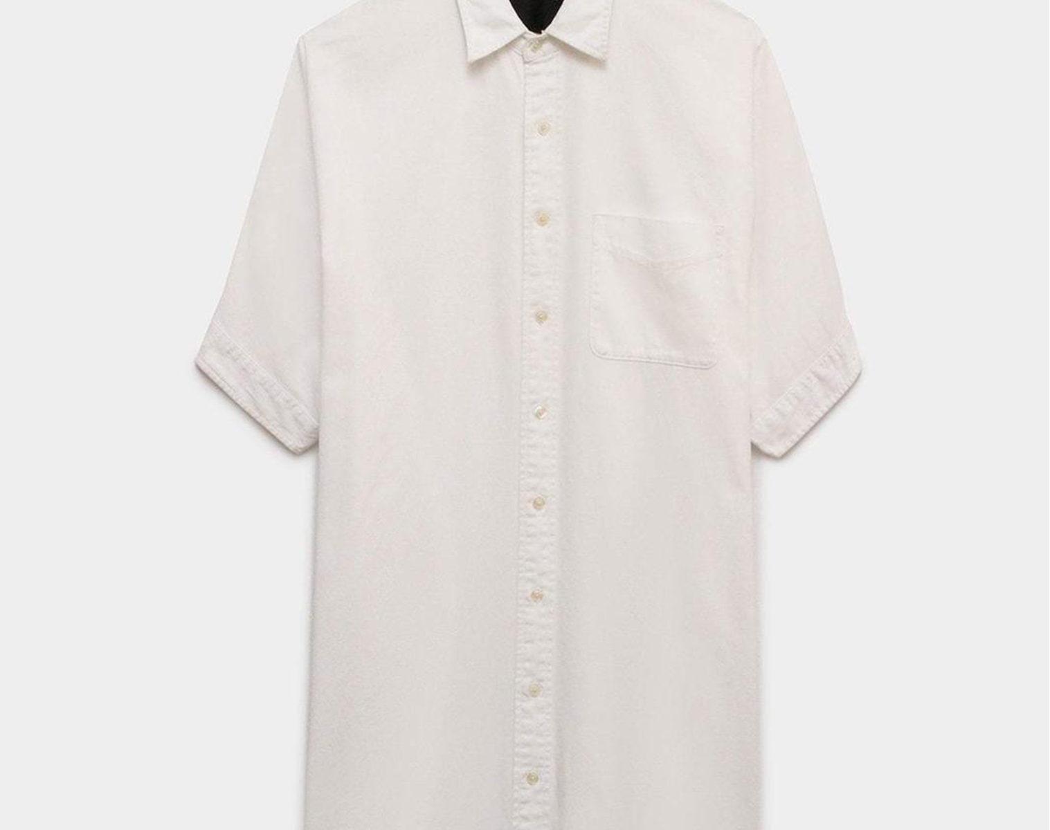 R13 Boxy Button Up Oversized Shirt Dress 1