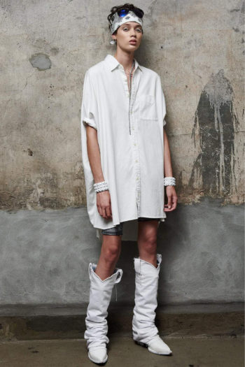 R13 Boxy Button Up Oversized Shirt Dress 2