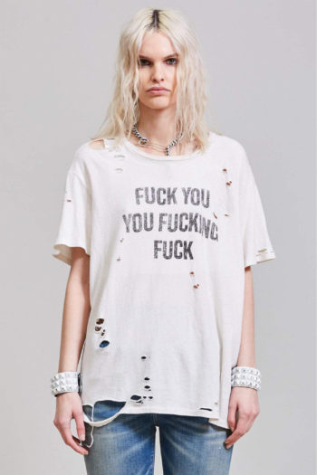 R13 F U Ripped Boy T Shirt 3 1
