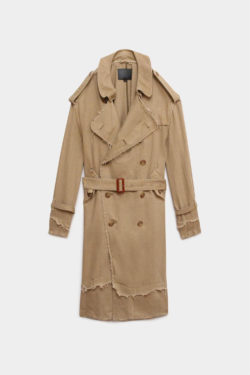 R13 Shredded Trench Coat 1