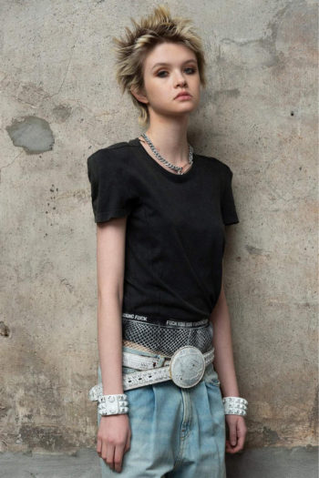 R13 Square Shoulder T Shirt W Detachable Shoulder Pads 2