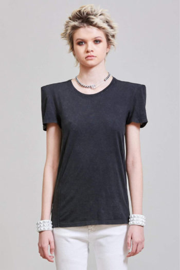 R13 Square Shoulder T Shirt W Detachable Shoulder Pads 3