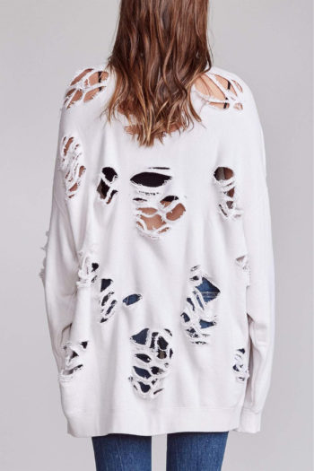 R13 Super Distressed Oversized Sweater 4