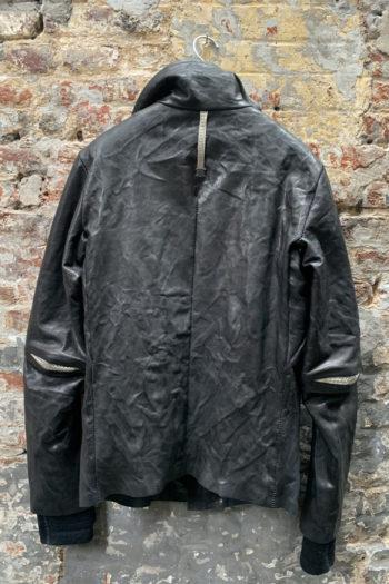 ISAAC SELLAM Padded High Neck Leather Jacket 2