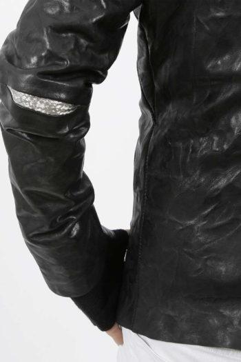 ISAAC SELLAM Padded High Neck Leather Jacket 5
